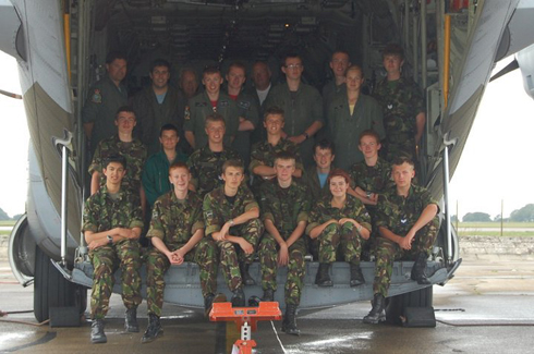 Sat on the back of a Herc at RAF Lyneham