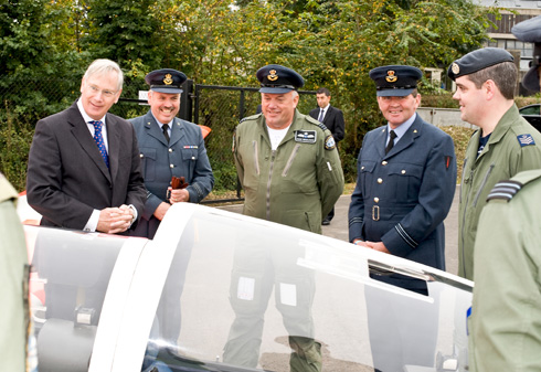 HRH Duke of Gloucester pictured on the left at 41F Sqn Opening