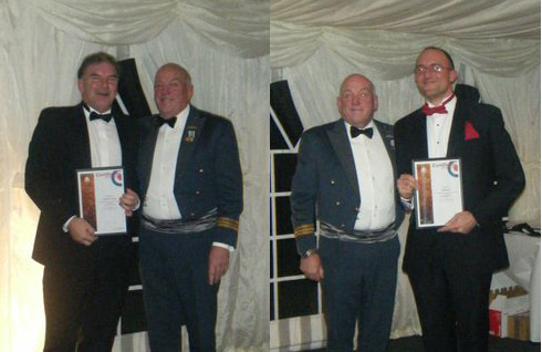Andy Trickey and Neil Payne being presented Long Service Awards